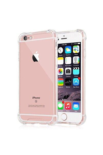 Iphone 6 / 6s Anti Şok Darbe Emici Silikon Şeffaf Kılıf Kapak