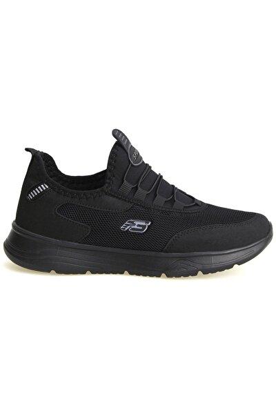 Siyah Unisex Ortopedik Konforlu Yürüyüş Spor Sneaker Ayakkabı