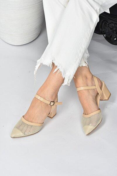 Kadın Ten File Topuklu Ayakkabı K820600215