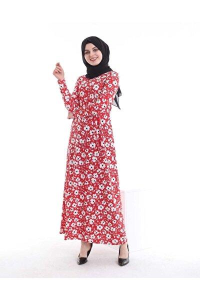 Elbise Boydan Çiçek Desen