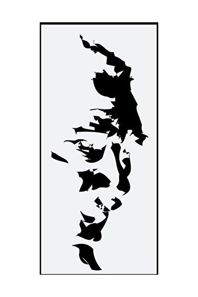 22 Cm Siyah Atatürk Silüet Sticker