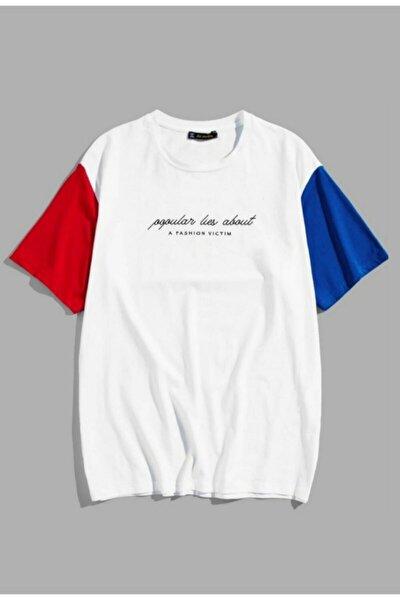 Erkek 3 Renkli Owersize T-shirt Bol Kesim