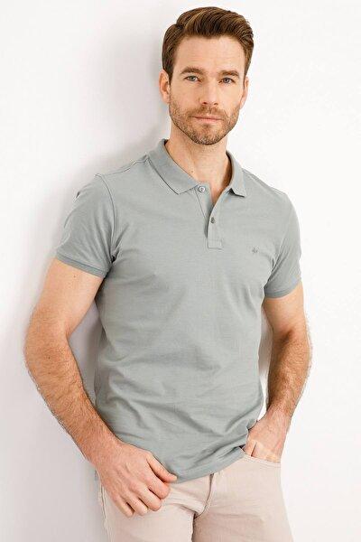 Erkek Yeşil Modern Fit Polo Yaka T-shirt