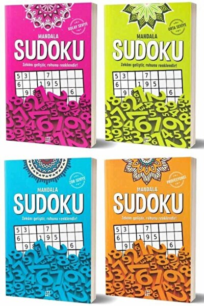 Mandala Sudoku Seti 4 Kitap -