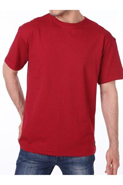 Erkek Kırmızı Store Oversize Bol Kesim Tişört