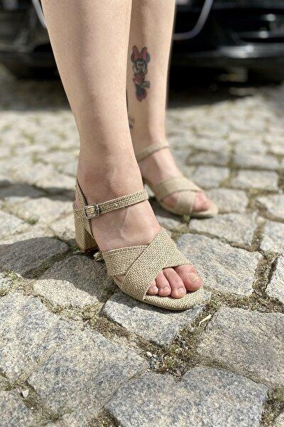 Kadın Hasır Hakiki Deri Ortopedik Sandalet