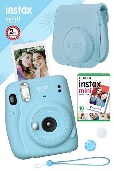 Instax Mini 11 Mavi Fotoğraf Makinesi Ve Hediye Seti 3