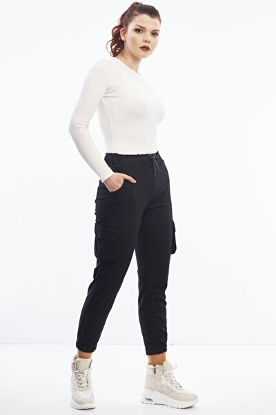 Cty-abr-9043 Siyah Kargo Cep Pantolon