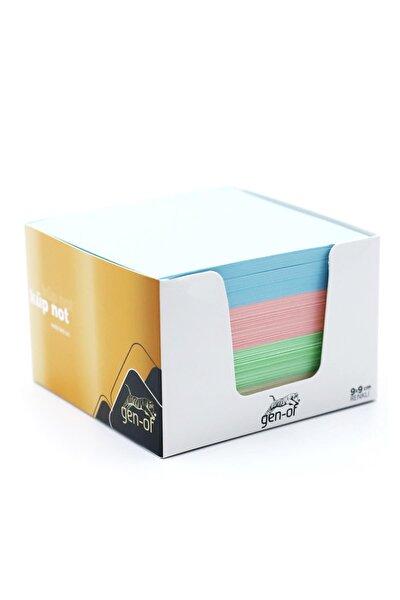 Renkli Küp Blok Not 9x9 Cm