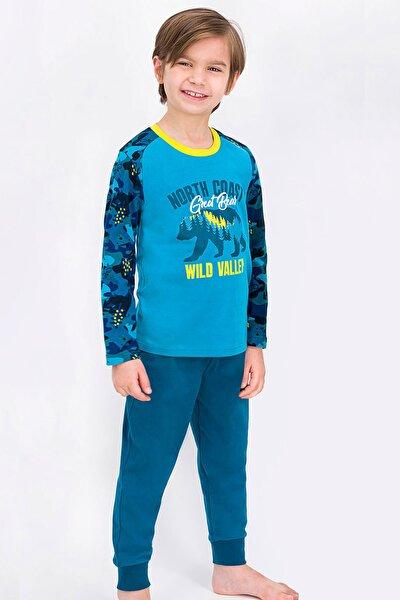 Erkek Çocuk Lacivert Uzun Kol Pijama Takım Rp1829-2 21k
