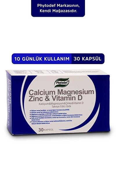 Kalsiyum Magnezyum Çinko Vitamin D 30 Kapsül