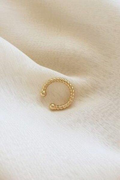 Kadın Altın Renk Vintage Burgulu Kıkırdak Küpe (earcuff)