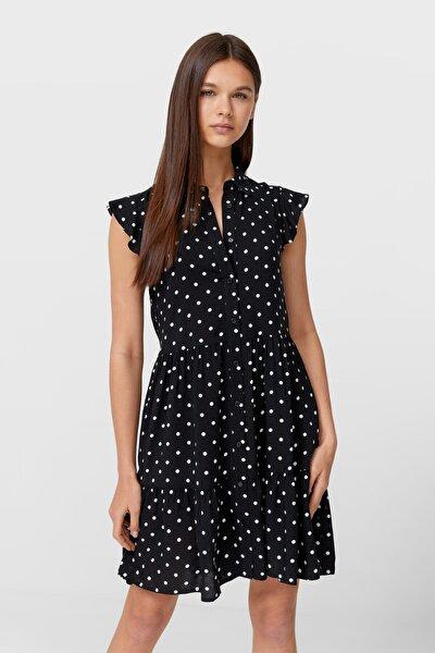Kadın Siyah Kolsuz Gömlek Elbise