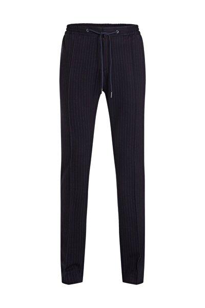 Erkek Mavi Pantolon Jersey Stripe Slim Fit Pants TT0TT04259