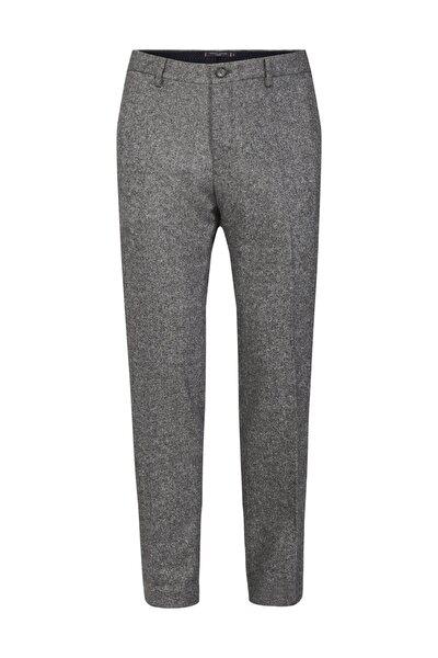 Erkek Gri Pantolon Wool Blend Slim Fit Pants TT0TT06282