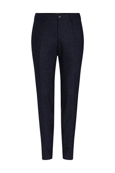 Erkek Mavi Pantolon Wool Blend Slim Fit Pants TT0TT06282