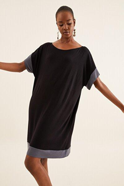 Kadın Siyah Oversize Elbise