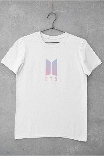 Kadın Bts Müzik Grubu Logo Baskılı T-Shirt