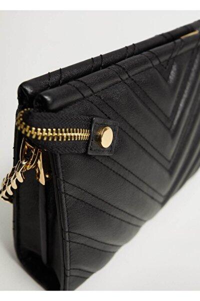 Kadın Siyah Zincirli Çapraz Çanta