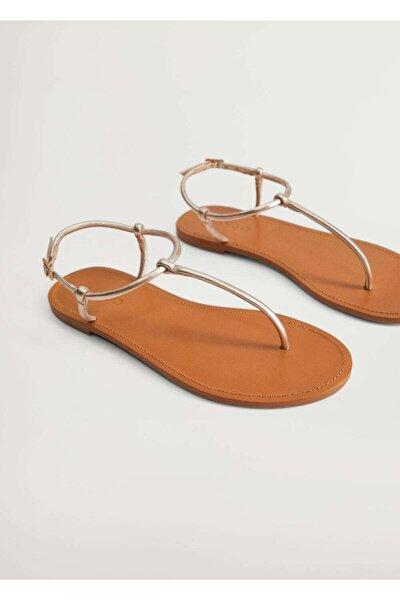Deri Bantlı Sandalet