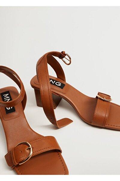 Topuklu Deri Sandalet