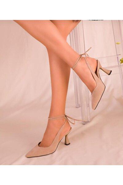 Kadın Ten Süet Klasik Ayakkabı