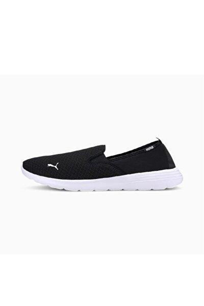 Erkek Siyah Beyaz Flex Renew Slipon Spor Ayakkabı