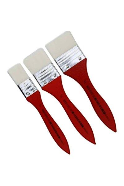 Texco 1500 Serisi Zemin Fırçası 3'lü Set Kırmızı