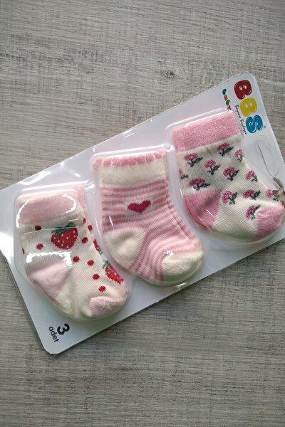 Kız Bebek 3 lü Çorap