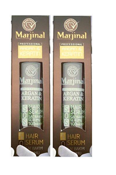 Argan & Keratin Bir Arada Saç Bakım Serumu 100 ml X 2 Adet