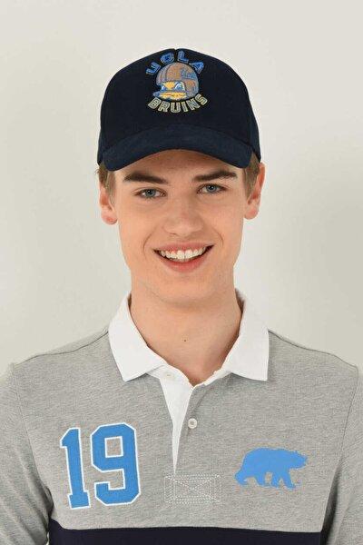 Anselmo Lacivert Baseball Cap Nakışlı Şapka