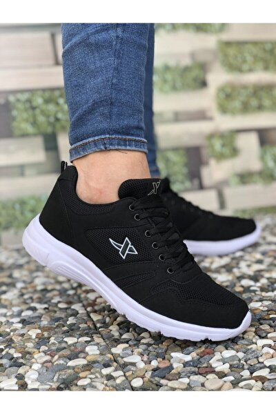 Xstep Siyah Beyaz Unisex Spor Ayakkabı