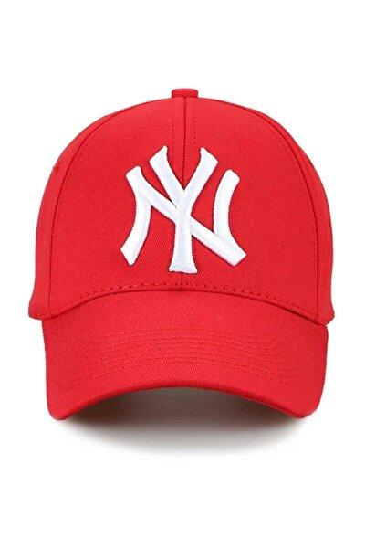 Ny New York Şapka Unisex Kırmızı Şapka