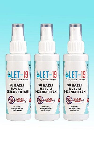 3 Adet - 100ml Let-19 Hipokloröz El, Yüz Ve Cilt Dezenfektanı Antiviral-antibakteriyel-antifungal