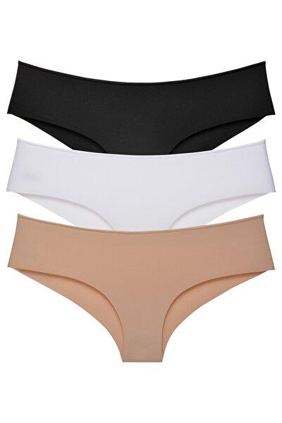 Kadın Panty Lazer Kesim Külot 3 Lü Paket Set