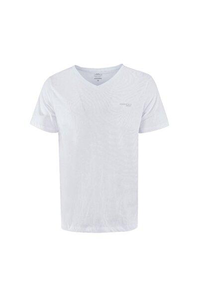 CT106 BASIC V NECK T-SHIR Beyaz Erkek T-Shirt 100581735