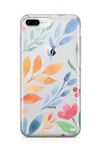 Iphone 7 Plus/8 Plus Şeffaf Telefon Kılıfı - Watercolor Flowers I