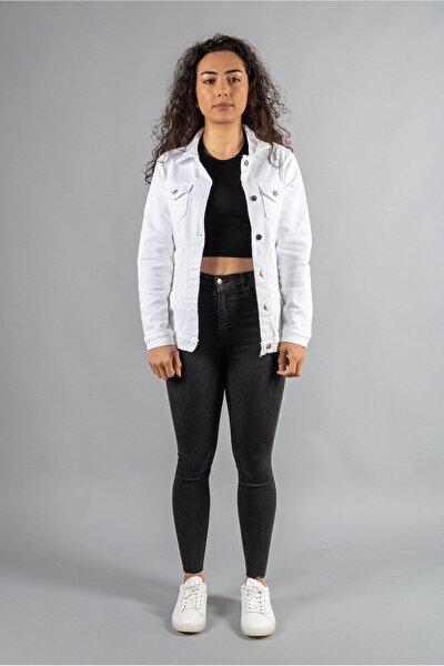 Beyaz Denim Ceket
