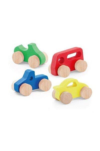 Playwood Kutulu Ahşap Oyuncak Arabalar