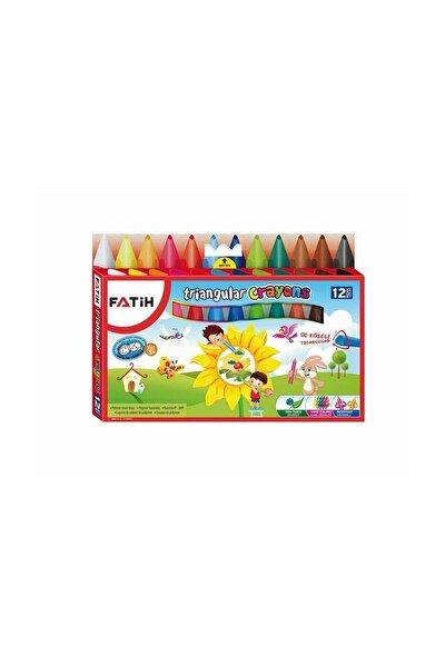 Triangular Crayons Üçgen Polimer Mum Boya 12 Renk