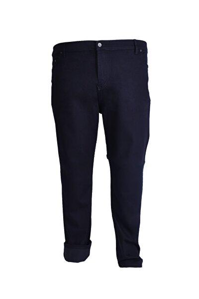 Erkek Siyah Büyük Beden Keten Pantolon