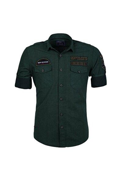 Erkek Özel Boyama Division Armalı Çift Cep Kapaklı Slim Fit Gömlet