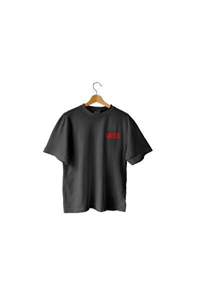 Unisex Siyah Oversize T-shirt