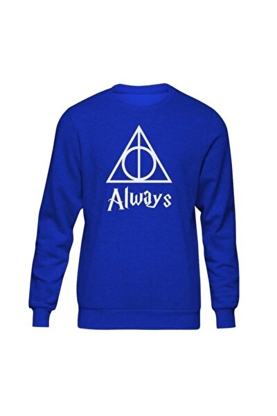 Harry Potter Always Iı Mavi Sweatshirt