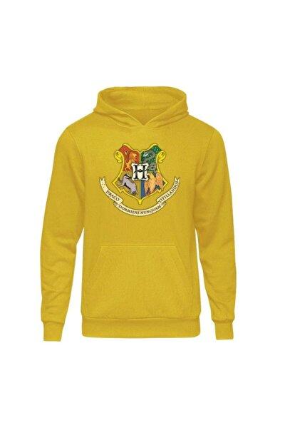 Harry Potter Hogwarts Sarı Kapşonlu Hoodie
