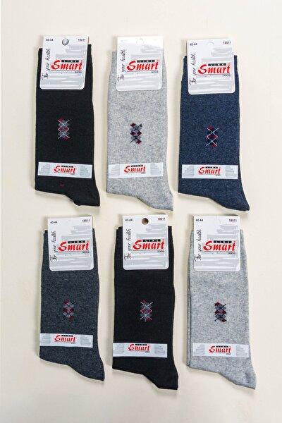 Erkek Pamuklu Desenli Mevsimlik Soket Çorap 6'lı