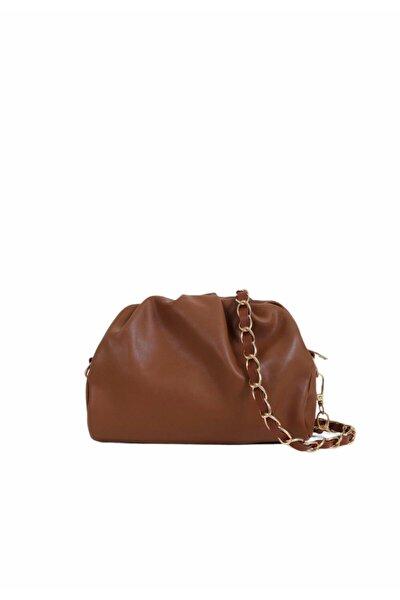 Kadın Taba Fermuarlı Askılı Çanta
