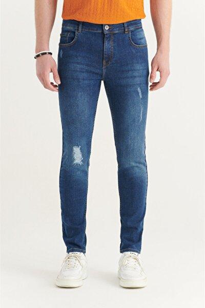 Erkek Mavi Slim Fit Jean Pantolon A11y3530