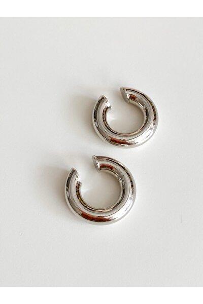 Gümüş Renk Mini Boru Earcuff Kıkırdak Küpe (adet)