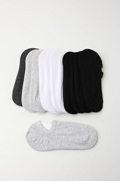 Kadın Spor Çorap - Siyah /beyaz / Gri 12'li Paket